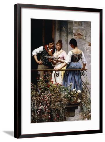 On the Balcony, 1889-Eugen Von Blaas-Framed Art Print