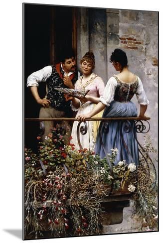 On the Balcony, 1889-Eugen Von Blaas-Mounted Giclee Print