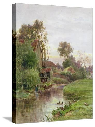 The Mill Stream-James George Bingley-Stretched Canvas Print