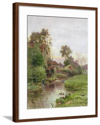 The Mill Stream-James George Bingley-Framed Art Print