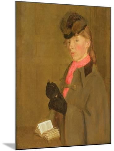 Portrait of the Artist's Sister, Winifred-Gwen John-Mounted Giclee Print