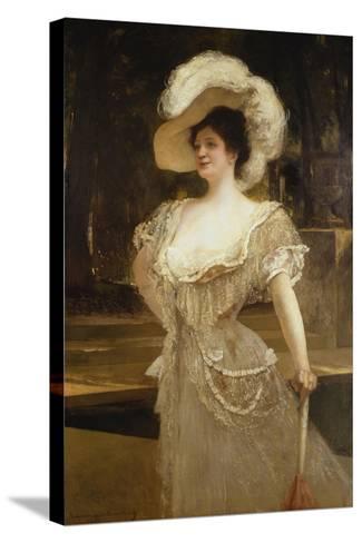 A Portrait of Mrs, 1901-Jean Joseph Benjamin Constant-Stretched Canvas Print