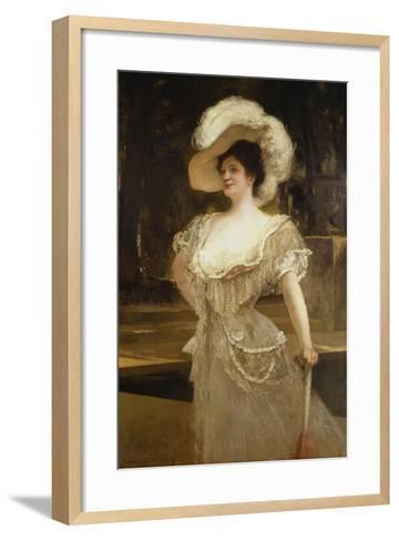 A Portrait of Mrs, 1901-Jean Joseph Benjamin Constant-Framed Art Print