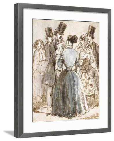 A Conversation-Constantin Guys-Framed Art Print