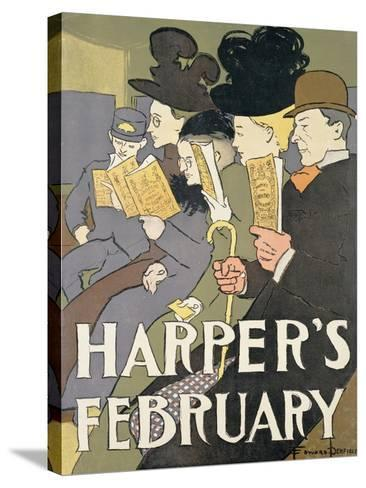 Harper's February, 1897-Edward Penfield-Stretched Canvas Print