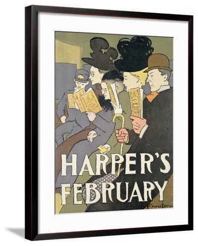 Harper's February, 1897-Edward Penfield-Framed Art Print