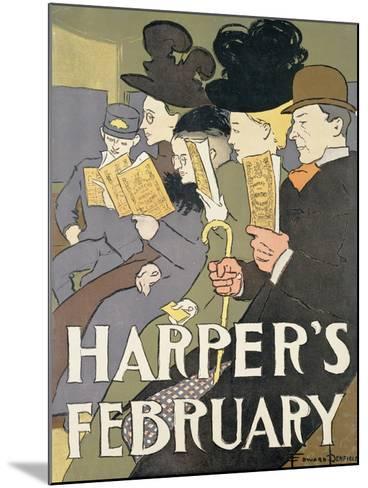 Harper's February, 1897-Edward Penfield-Mounted Giclee Print