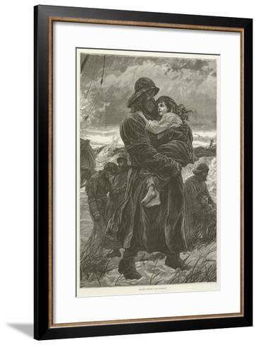 Saved from the Wreck--Framed Art Print