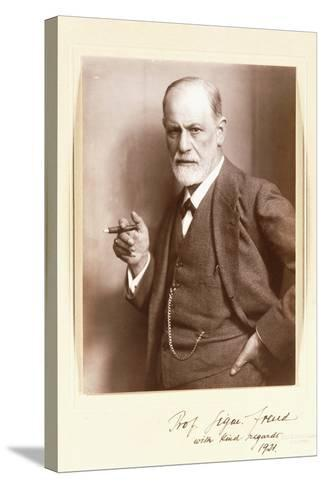 A Signed Photograph of Sigmund Freud, C.1921-Max Halberstadt-Stretched Canvas Print