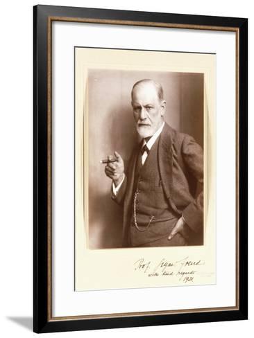 A Signed Photograph of Sigmund Freud, C.1921-Max Halberstadt-Framed Art Print