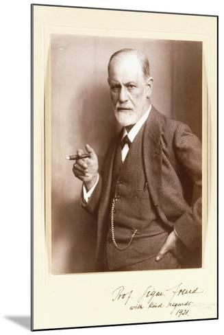 A Signed Photograph of Sigmund Freud, C.1921-Max Halberstadt-Mounted Photographic Print