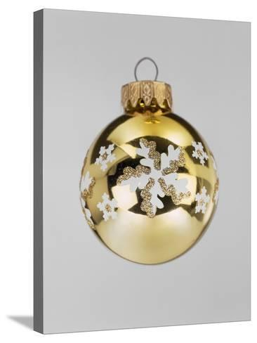 Gold Bauble--Stretched Canvas Print