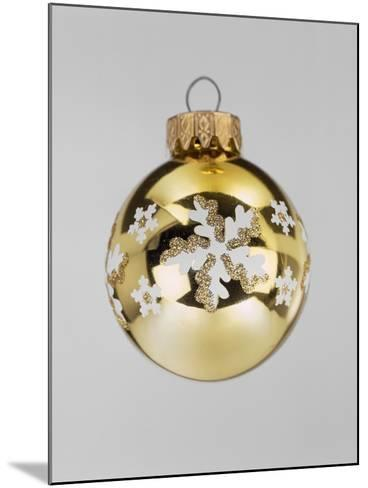 Gold Bauble--Mounted Photographic Print