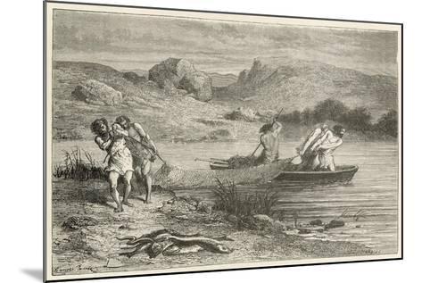 Pecheurs a L'Epoque De La Pierre Polie-Emile Antoine Bayard-Mounted Giclee Print