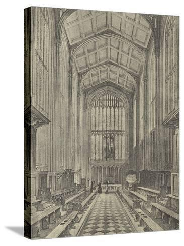 The Chapel, Looking East, 1844--Stretched Canvas Print