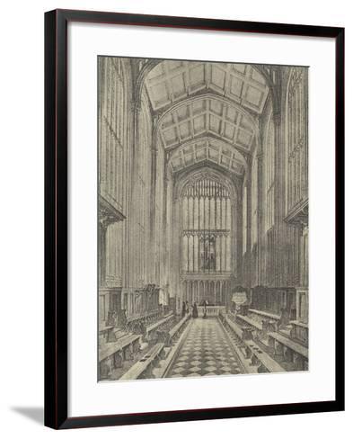 The Chapel, Looking East, 1844--Framed Art Print