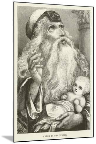 Simeon in the Temple--Mounted Giclee Print