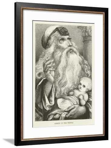 Simeon in the Temple--Framed Art Print