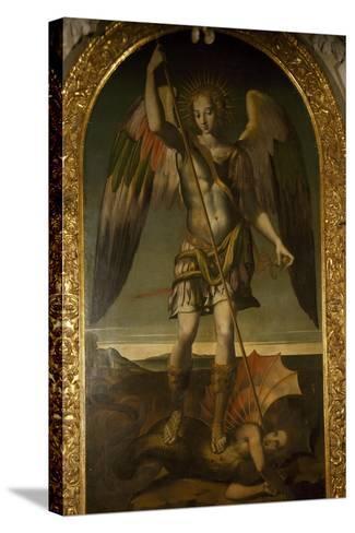 Saint Michael Triumphs over Devil--Stretched Canvas Print