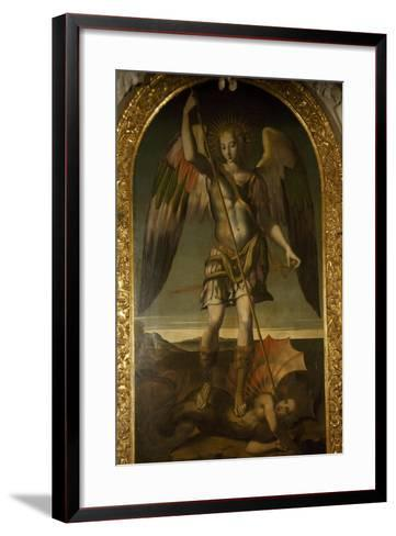 Saint Michael Triumphs over Devil--Framed Art Print