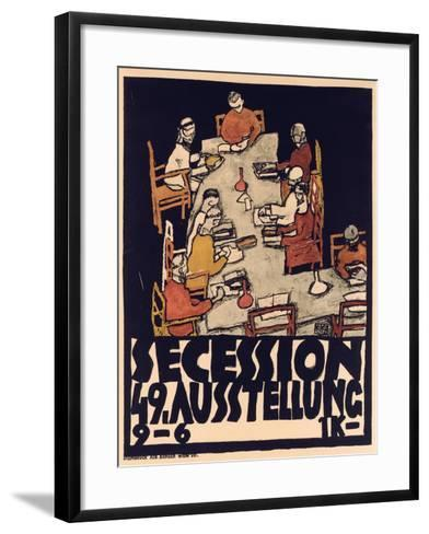 Poster Advertising Secession 49 Exhibition, 1918-Egon Schiele-Framed Art Print
