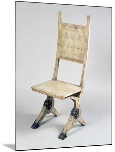 Art Nouveau Style Deck Chair-Carlo Bugatti-Mounted Giclee Print