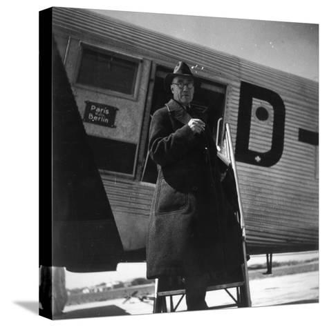 Andre Gide Travelling in USSR, 1936--Stretched Canvas Print