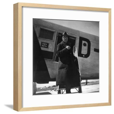 Andre Gide Travelling in USSR, 1936--Framed Art Print