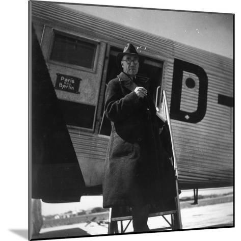 Andre Gide Travelling in USSR, 1936--Mounted Photographic Print