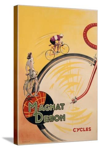 Poster Advertising 'Magnat Debon' Cycles, C.1950--Stretched Canvas Print