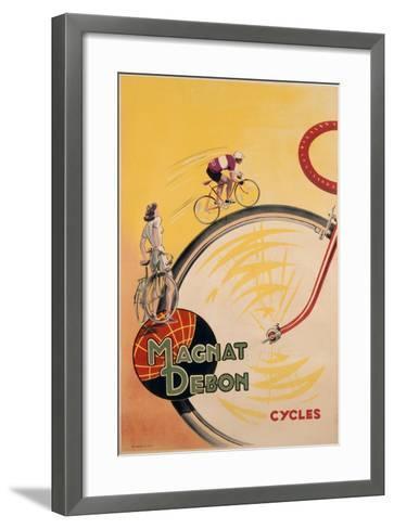 Poster Advertising 'Magnat Debon' Cycles, C.1950--Framed Art Print