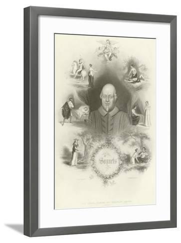 Sonnets by William Shakespeare--Framed Art Print