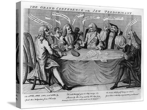 The Grand Conference, or Jew Predominant, 1753--Stretched Canvas Print