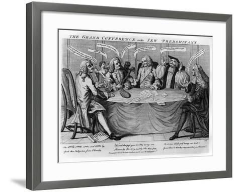 The Grand Conference, or Jew Predominant, 1753--Framed Art Print
