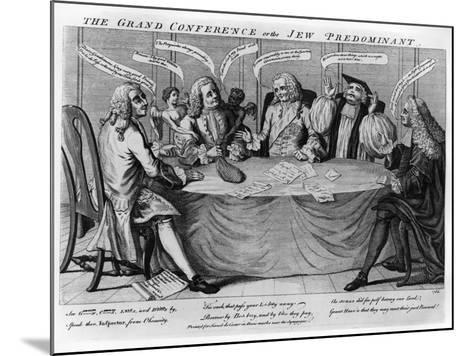 The Grand Conference, or Jew Predominant, 1753--Mounted Giclee Print