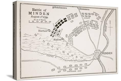 Battle of Minden--Stretched Canvas Print