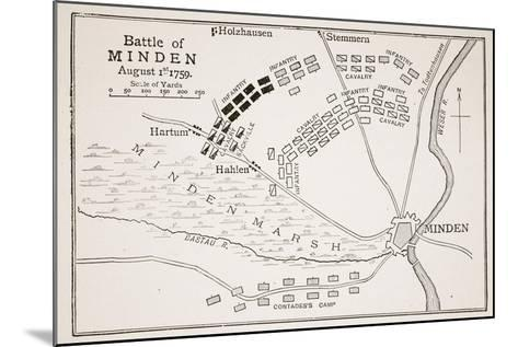Battle of Minden--Mounted Giclee Print