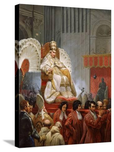 Pope Pius VIII-Horace Vernet-Stretched Canvas Print