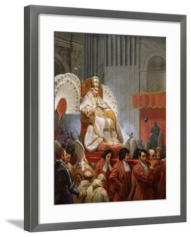 Pope Pius VIII-Horace Vernet-Framed Art Print