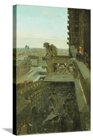Gargoyles at Notre Dame, 1867-Winslow Homer-Stretched Canvas Print