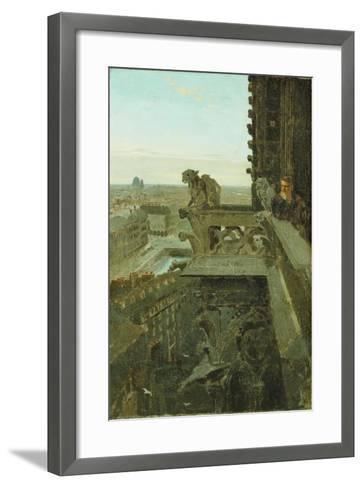 Gargoyles at Notre Dame, 1867-Winslow Homer-Framed Art Print