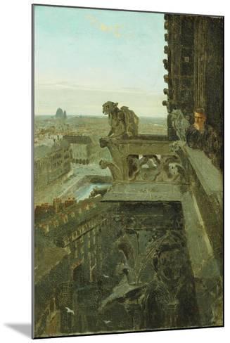 Gargoyles at Notre Dame, 1867-Winslow Homer-Mounted Giclee Print