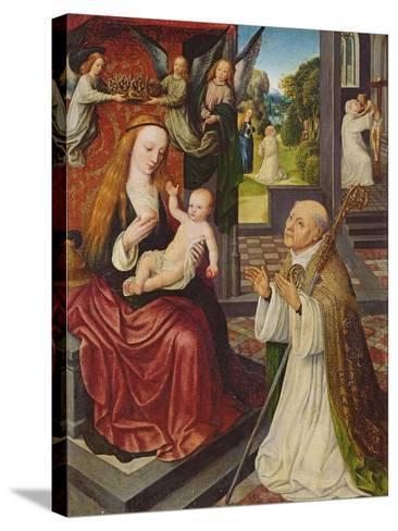 The Lactation of St. Bernard-Jan van Eeckele-Stretched Canvas Print
