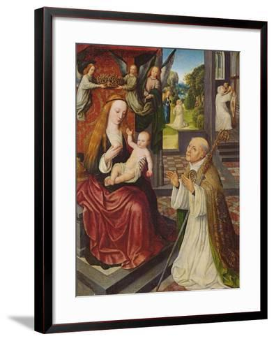 The Lactation of St. Bernard-Jan van Eeckele-Framed Art Print