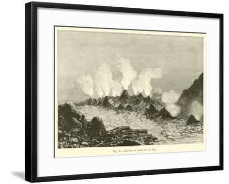 Crater of Vesuvius in 1834--Framed Art Print