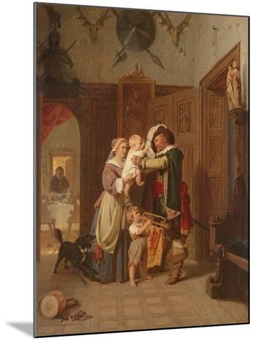 The Cavalier's Return, 1855-August Friedrich Siegert-Mounted Giclee Print