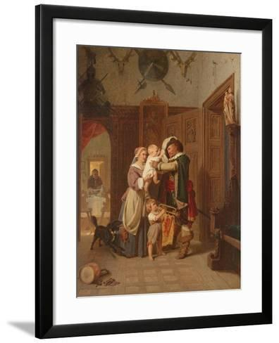 The Cavalier's Return, 1855-August Friedrich Siegert-Framed Art Print