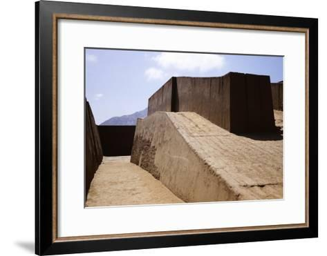 The Temple of Huanca in Chan Chan--Framed Art Print