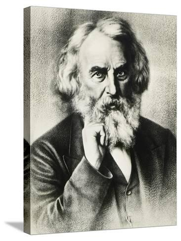 Portrait of Henry Wadsworth Longfellow--Stretched Canvas Print