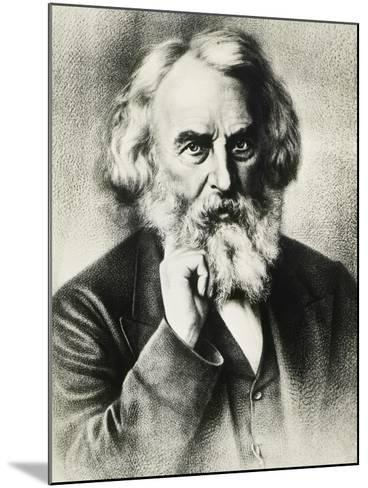 Portrait of Henry Wadsworth Longfellow--Mounted Giclee Print